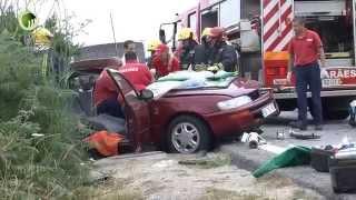 Quatro feridos após colisão de viaturas na EN 206 em Ronfe