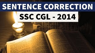 Error Spotting for Competitive Exams - SSC CGL 2014