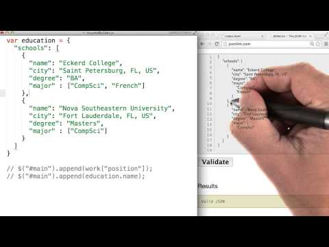 Validating JSON - JavaScript Basics - YouTube