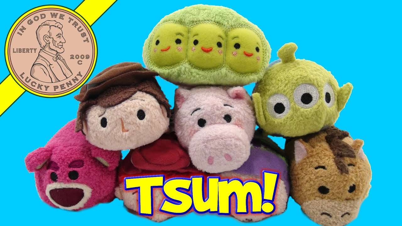 Disney-Pixar Toy Story Tsum Tsum Stackable Plush Characters! - YouTube
