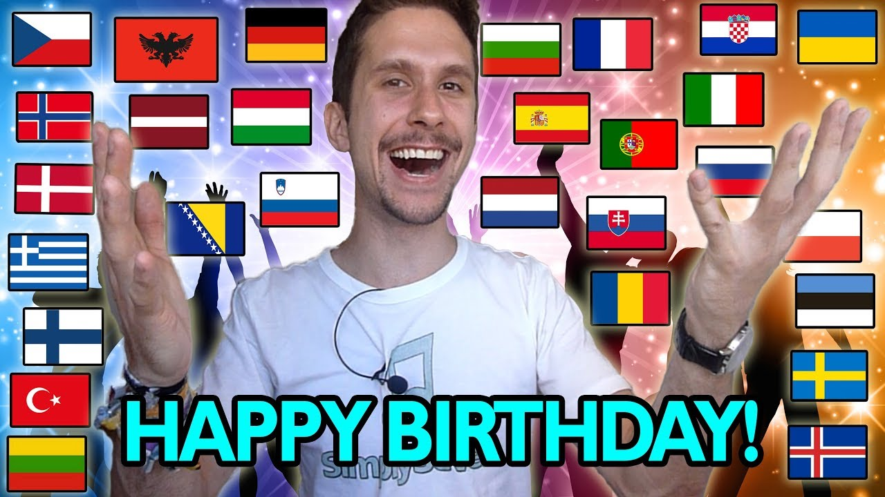 How To Say Happy Birthday In 35 Different Languages Youtube