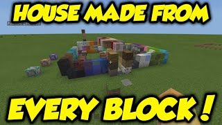 I Tried To Make A Minecraft House With EVERY Block & This Happened