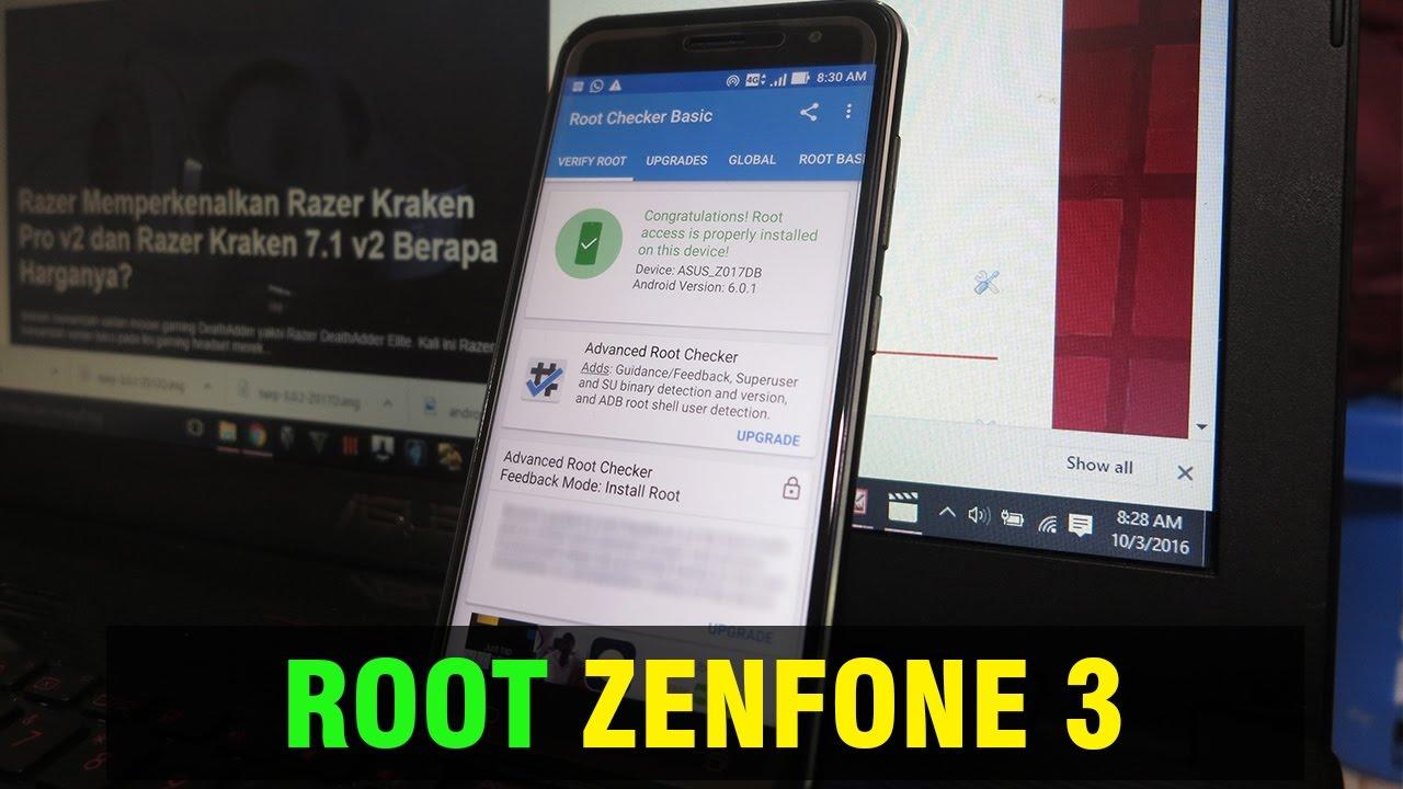 Cara Root Asus Zenfone 3