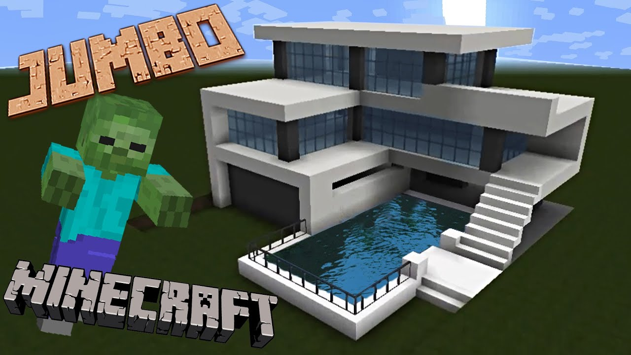 Minecraft building a modern house youtube for How to build a modern home