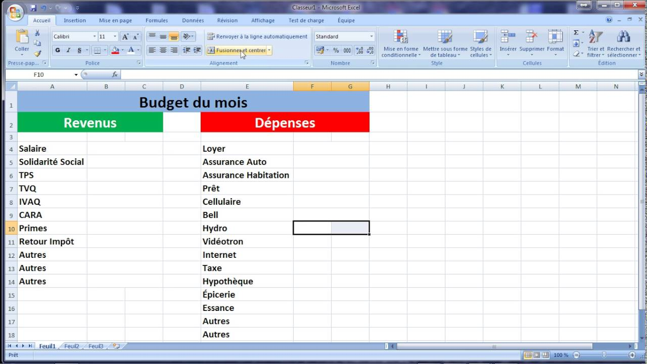 Bien-aimé Excel Faire son Budget - YouTube BR38