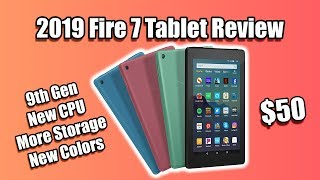 2019 Amazon Fire 7 Tablet Review - 9th Gen New CPU More Storage New Colors