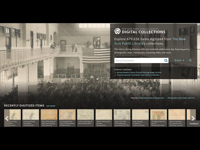 Bir Dijital Arşiv Olarak New York Halk Kütüphanesi