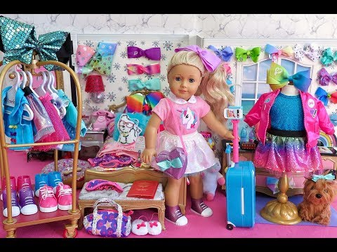 American Girl Doll JoJo Siwa Hotel ~ Closet Wardrobe Tour!