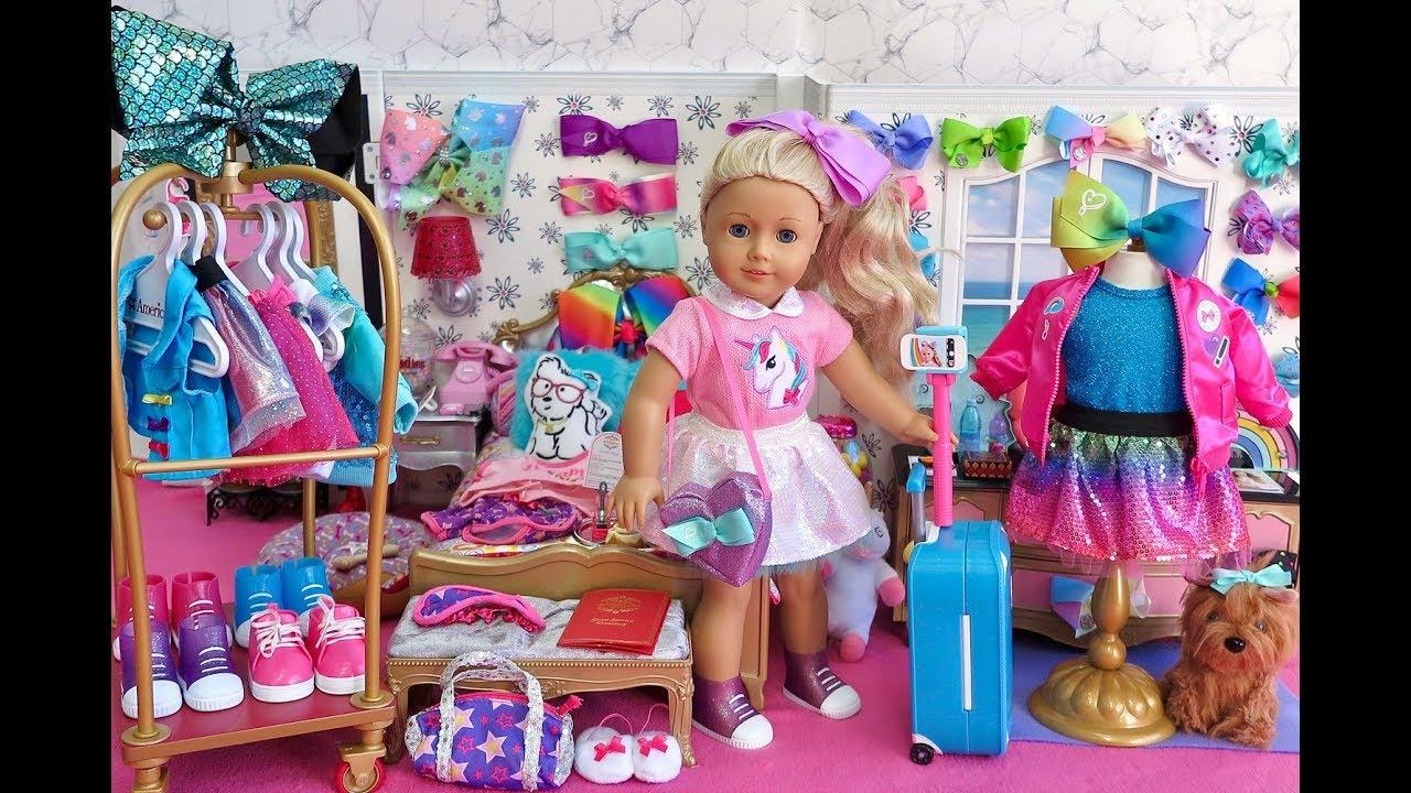 American Girl Doll Jojo Siwa Hotel Closet Wardrobe Tour