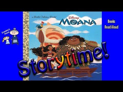Storytime! ~ Disney's MOANA Read Aloud ~ Story Time ~  Bedtime Story Read Along Books