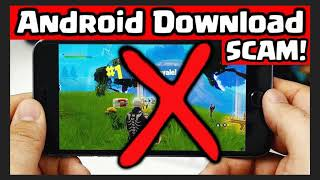 WARNIING Fake Fortnite downloads WARNING Never download outside Google play store apps