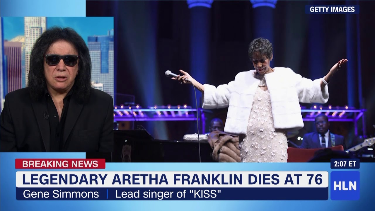 hln news tribute to aretha franklin gene simmons with christi