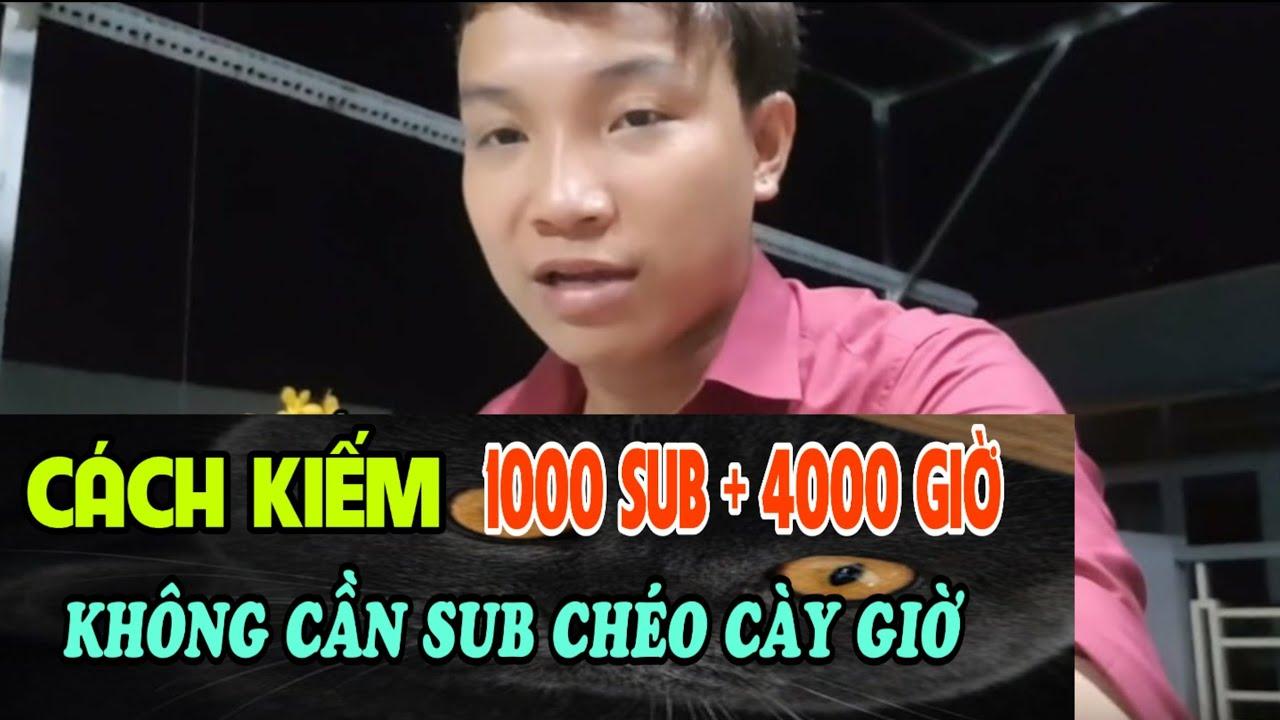 Cách Kiếm 1000Sub 4000h xem 2019 Bật Ngay Kiếm Tiền Trong 30 Ngày