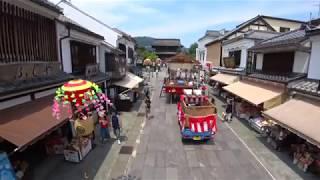 ながの祇園祭を4K擬似空撮