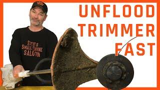 How Do I Quickly Unflood a Trimmer Using NO Tools?