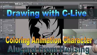 Coloring Animation Character Alucard From Hellsing