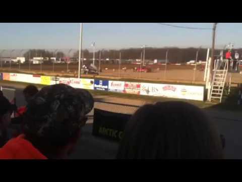 Byron Reed qualifying at Attica Raceway Park
