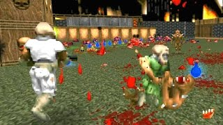 Doom 2 Brutal Doom v19 mod Multiplayer Gameplay Walkthrough