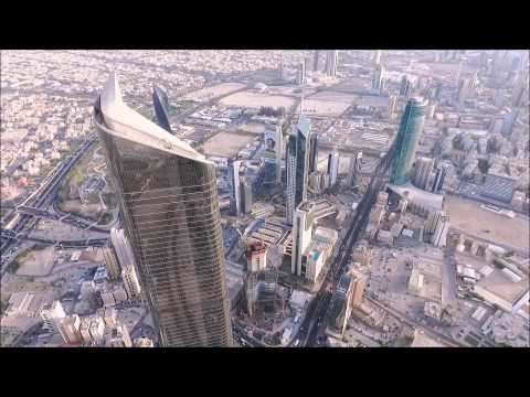 AL Hamra Tower in Kuwait by phantom 3 - high altitude ( 450m+ )