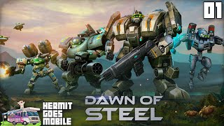 """MOBILE MECH BATTLES!!!"" Dawn of Steel iOS 1080p HD walkthrough"