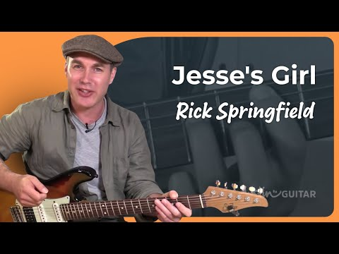 How to play Jessie's Girl - Rick Springfield - Guitar Lesson Tutorial (BS-825)