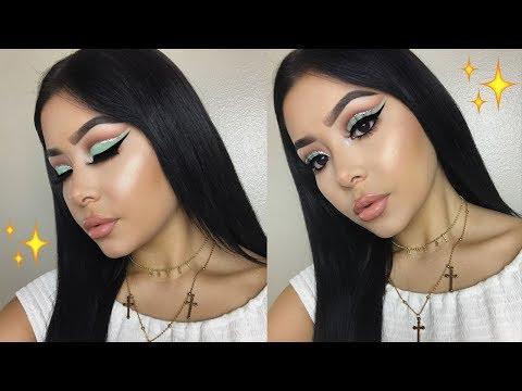 Teal Cut Crease Makeup Tutorial | Daisy Marquez
