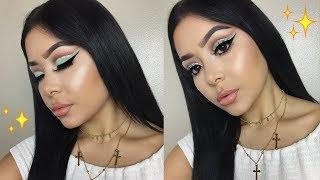 Teal Cut Crease Makeup Tutorial   Daisy Marquez