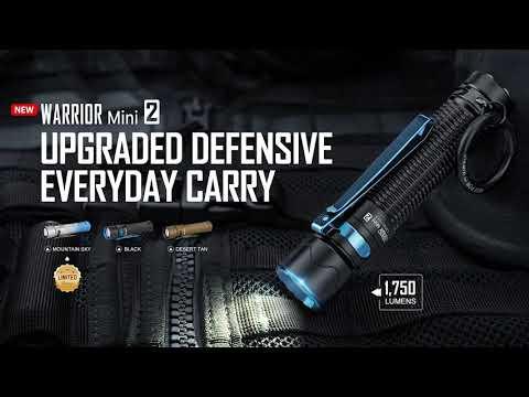 Senter Olight Warrior Mini 2 Rechargeable Flashlight LED