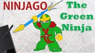 LEGO Ninjago: Masters of Spinjitzu - The Green Ninja - Drawing - How to draw LEGO Ninjago