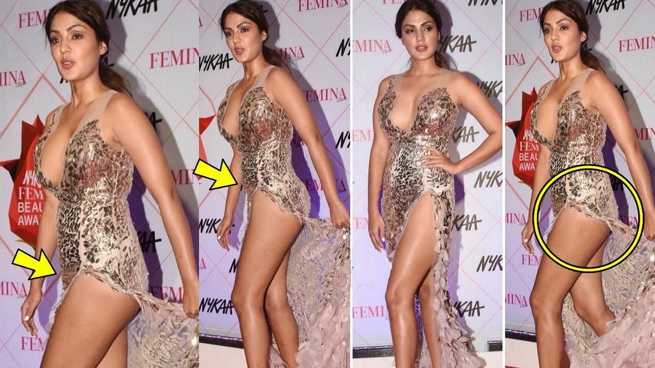 Rhea Chakraborty EMBARRASSSlNG Moment At NYKAA Femina Beauty Awards 2020  Red Carpet - YouTube