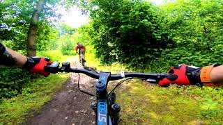 B'Twin RockRider E-ST500 eMTB Ride : Clayton Vale MTB Trails BLUE & RED Routes