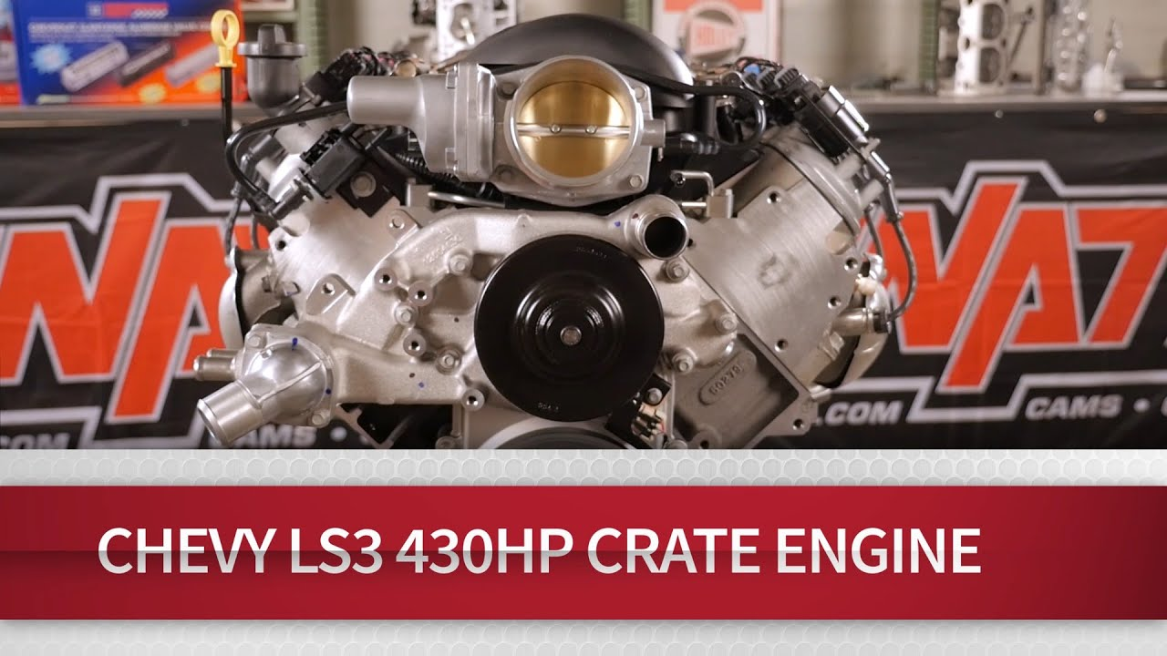 chevrolet performance parts 19370414 gm ls3 6 2l gen iv e rod engine package automatic transmission  [ 1280 x 720 Pixel ]