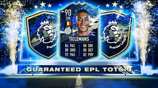 GUARANTEED EPL TOTS PACK & SBC TIELEMANS! - FIFA 21 Ultimate Team