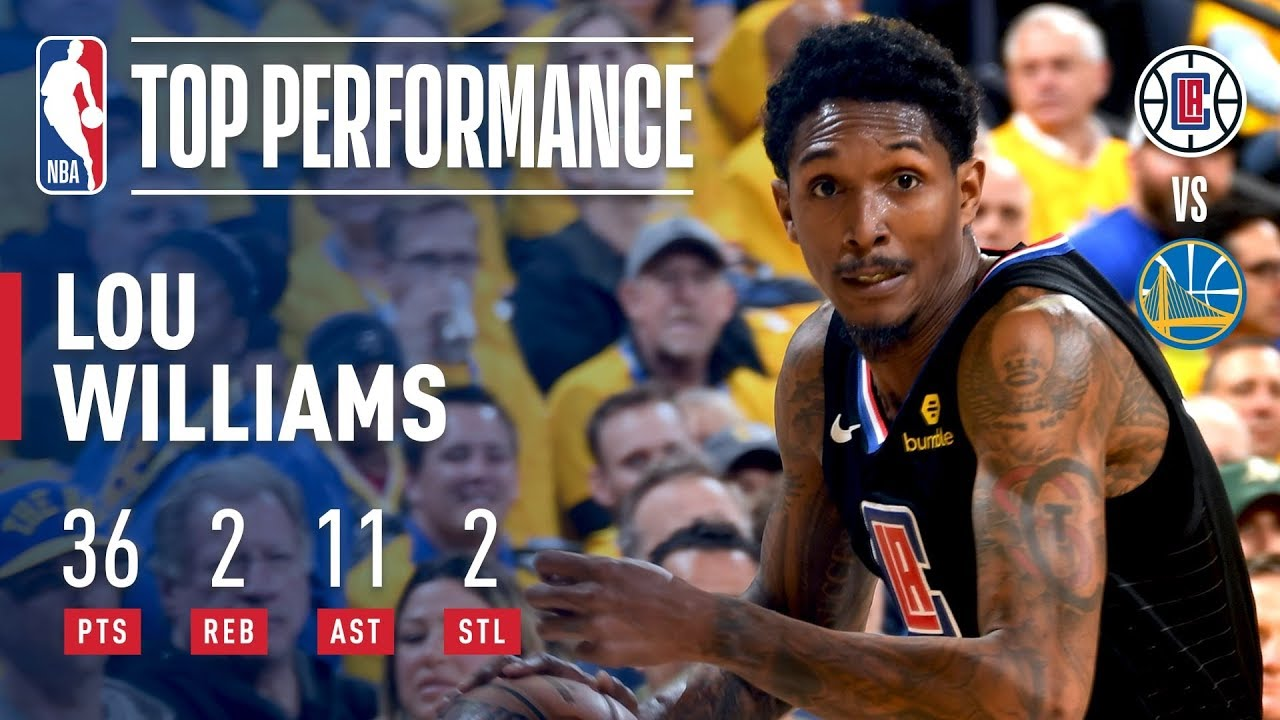 c472050048a Lou Williams Helps Lead COMEBACK With 36   11 Off the Bench