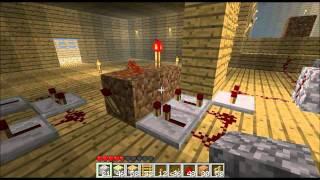 Minecraft - Piston Powered Castle Gate (Portcullis) No Sand or Gravel