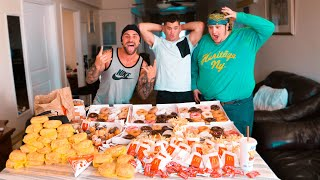 60,000 CALORIE FOOD CHALLENGE! *gone wrong*