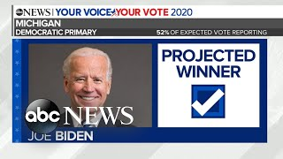 Gambar cover Biden projected to win Michigan Democratic primary