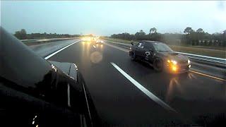 GGM & Highwaystar Garage Rainy Cruise || 2 EF Civic & Subaru WRX