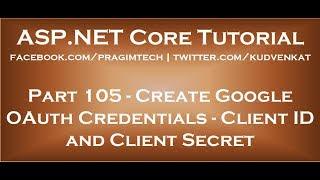 Oluşturun google oauth kimlik bilgilerini Client Id ve Client Secret