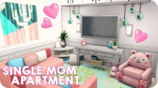 SINGLE MOM APARTMENT   Sims 4 Speed Build