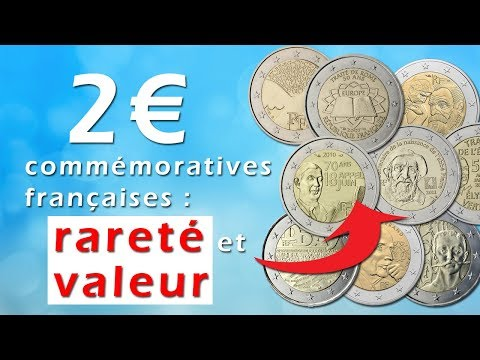 € 2 French commemorative coins: rarity and value