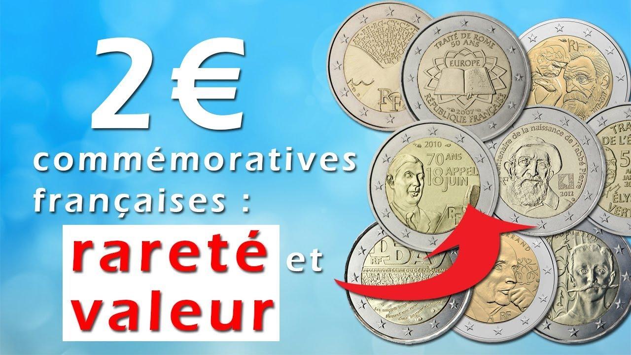 Pièces De 2 Commémoratives Françaises Rareté Et Valeur Youtube
