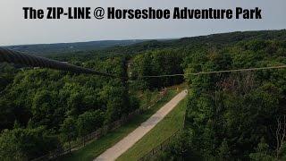 TREETOP ZIP-LINING - Horseshoe Adventure Park -Summer 2014