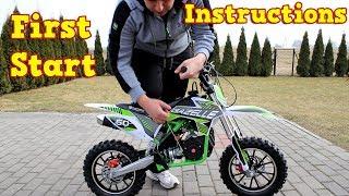 Dirt Bike 50cc - First Start - Instructions - Gazelle Mini Cross