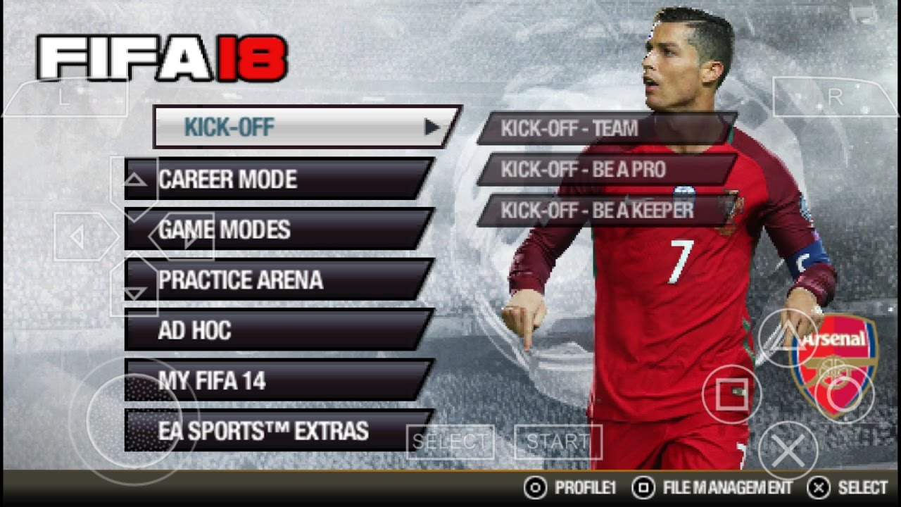 Image result for fifa 18 ppsspp android