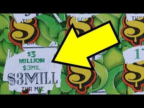 $3,000,000 Winner! Three Million! Biggest Scratch Ticket Win On YouTube! HUGE! I Beat The Lottery.