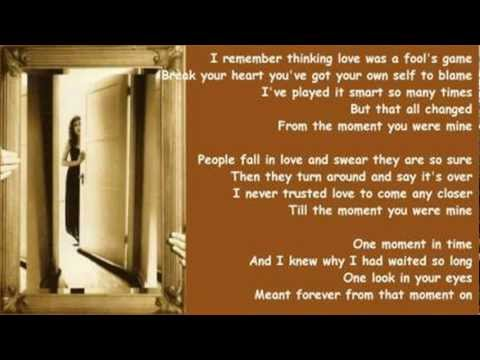 Beth Nielsen Chapman - The Moment You Were Mine ( + lyrics 1993)