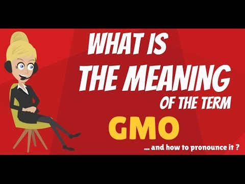 What is GMO? What does GMO mean? GMO meaning, definition & explanation