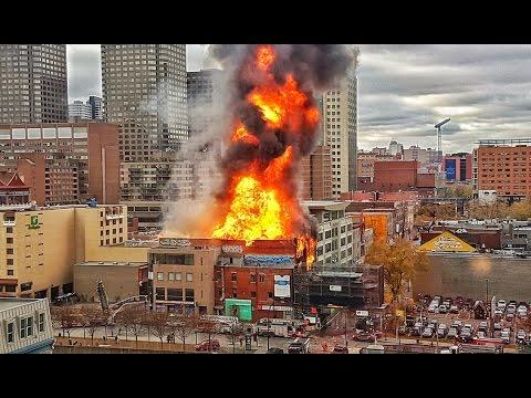 Incendie au Quartier Chinois de Montréal - 17 novembre 2016  -  FIRE IN CHINATOWN- PARTIE 1