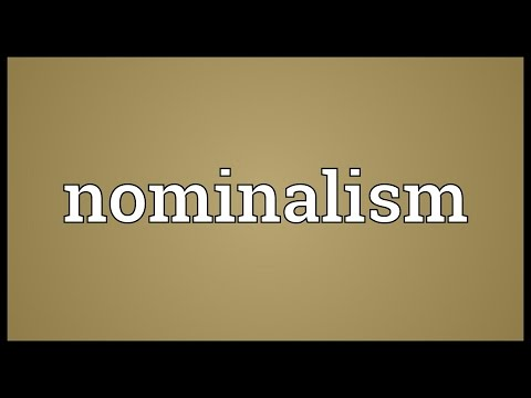 Header of nominalism